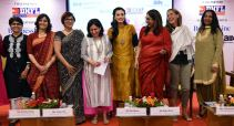 L-R: Tanu Mehta, legal council, mediator and conciliator high court of mumbai, Nidhi Lauria (C), business head Assam and North east, vodafone india service pvt ltd, Namita Vikas,Group President and Managing Director,Climate strategy and responsible Banking,YES bank LTD, Gauri, editor, The Hindu, Bollywood actress Dia Mirza, Rupa Naik, Director World Trade Centre, Anna-Carin Mansson, country HR manager for India, IKEA Business, and Kiran Manral, writer, author and columnist,during the conference on Women's Achievers at World trade centre on Thursday. Photo: Fariha Farooqui